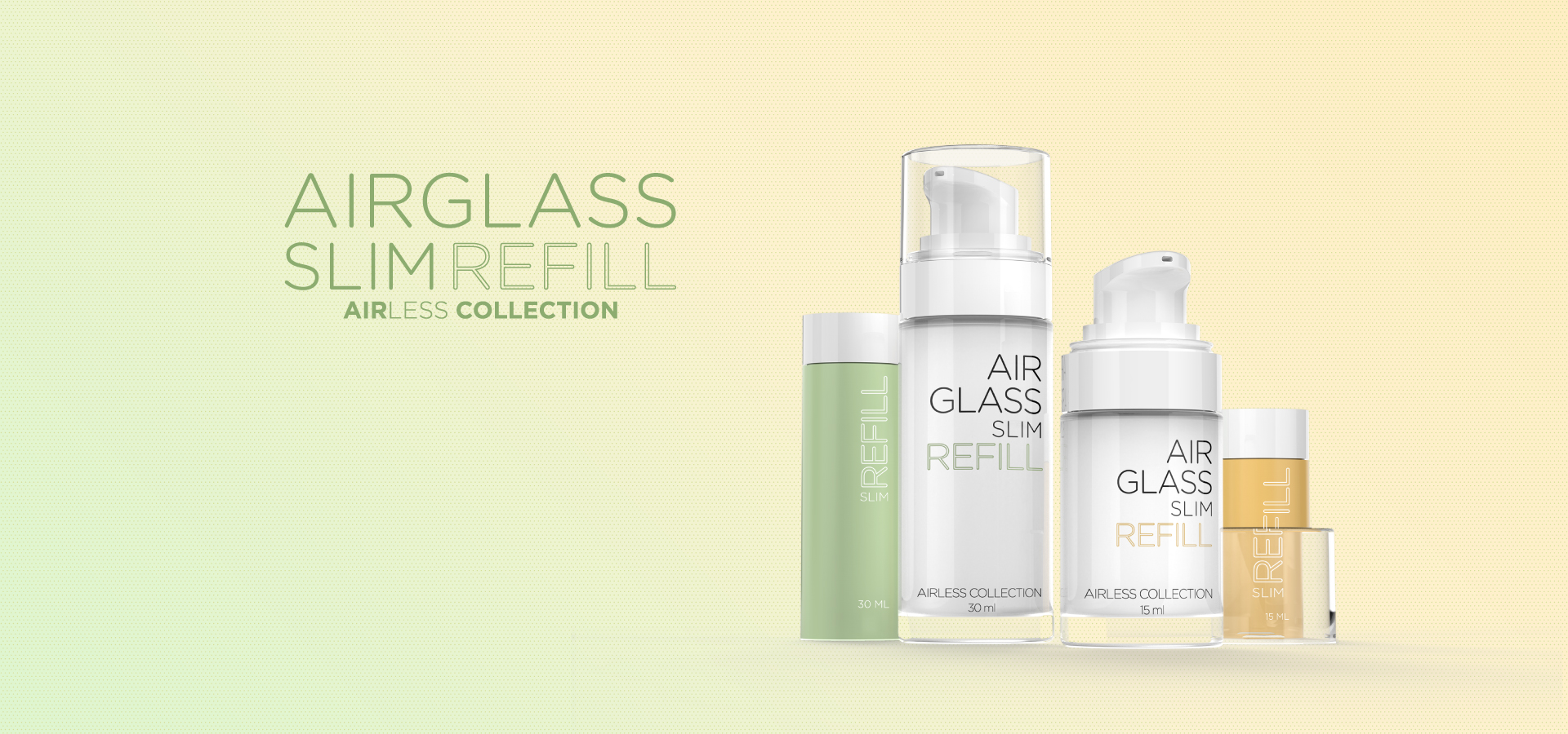 Airglass Slim Refill Packaging - Premi Beauty Industries